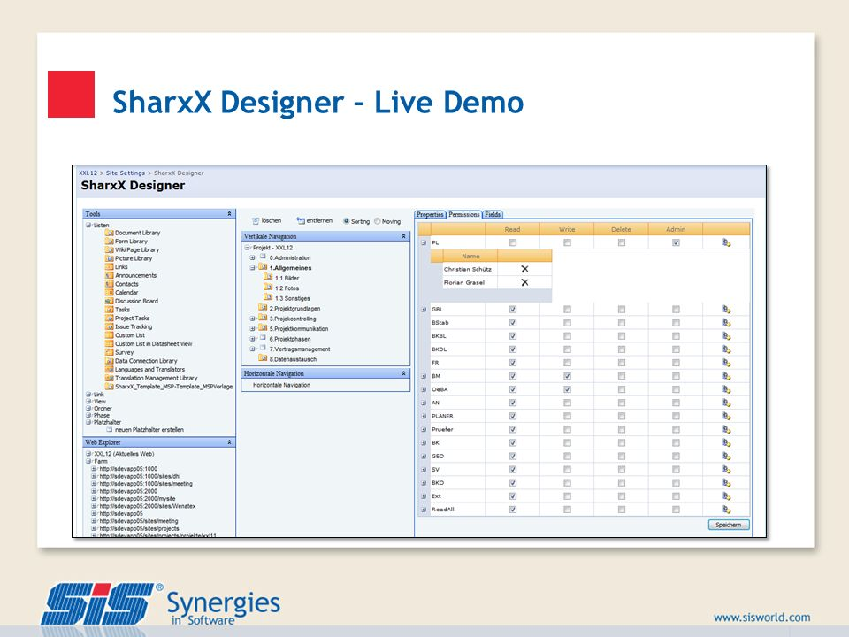 SharxX Designer – Live Demo