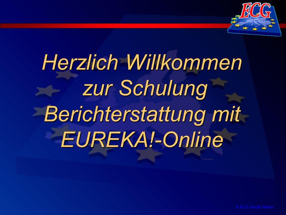 Herzlich Willkommen zur Schulung Berichterstattung mit EUREKA!-Online