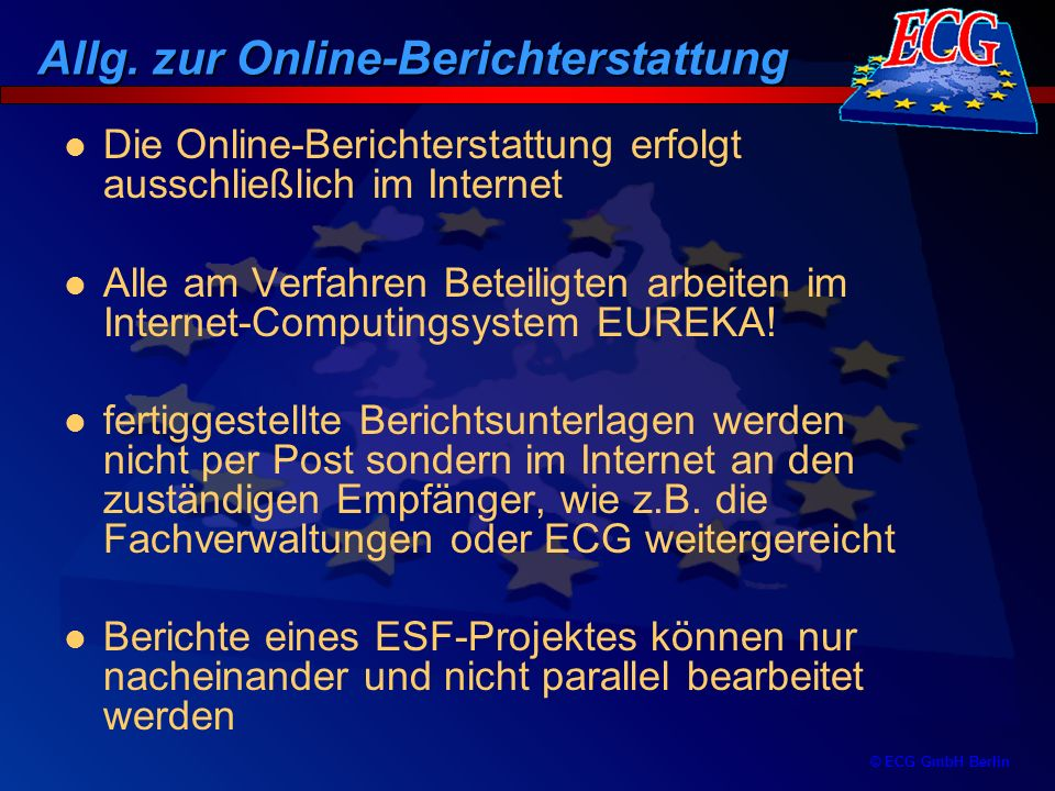 Allg. zur Online-Berichterstattung