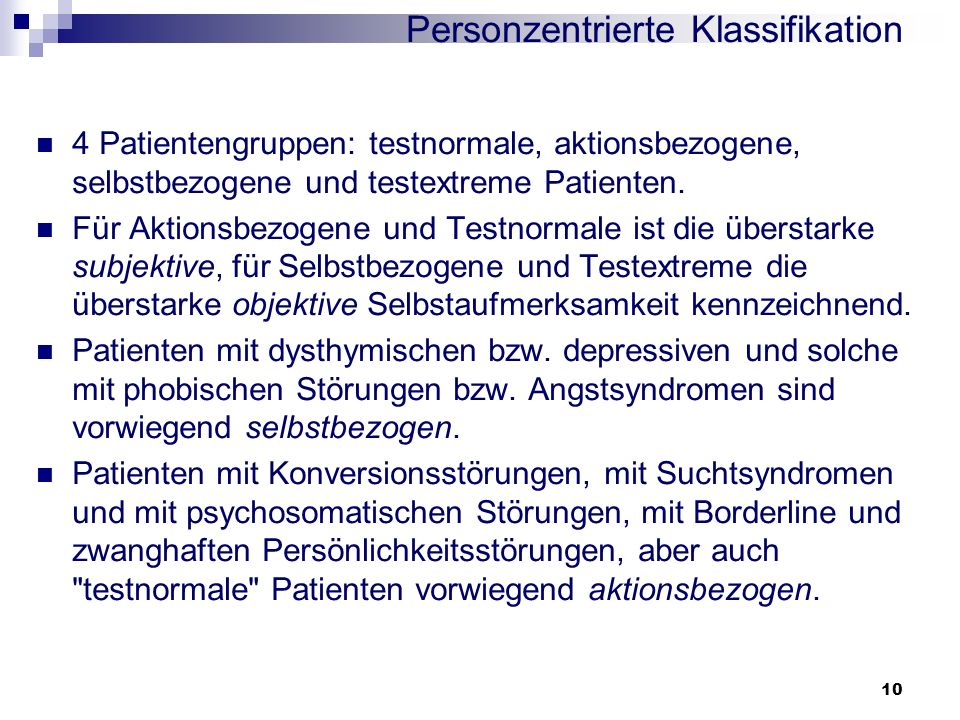 Personzentrierte Klassifikation