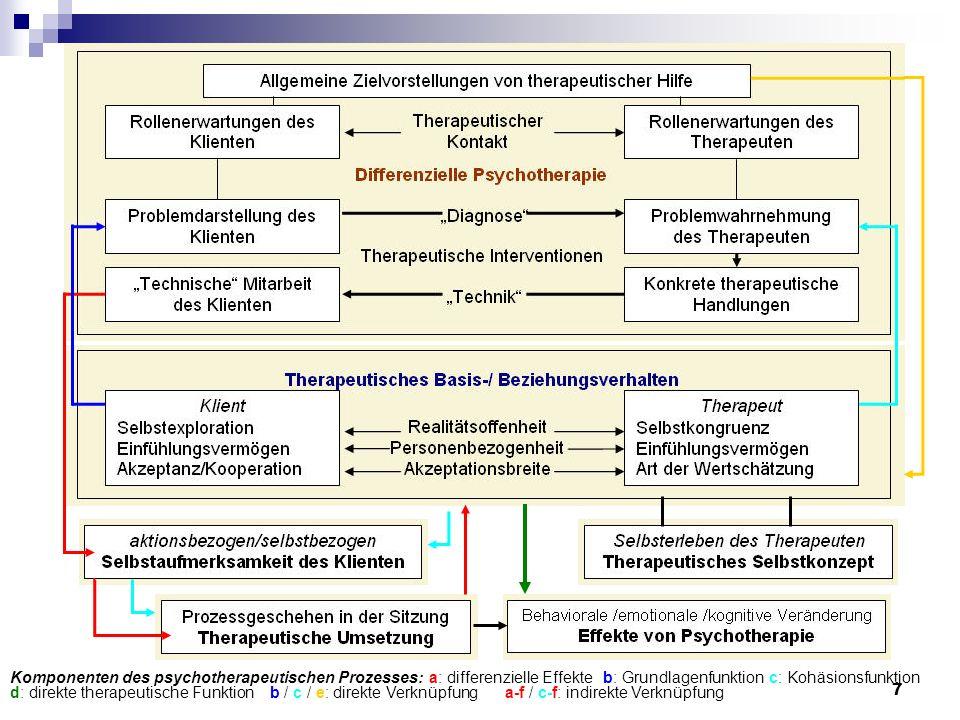 Komponenten des psychotherapeutischen Prozesses:
