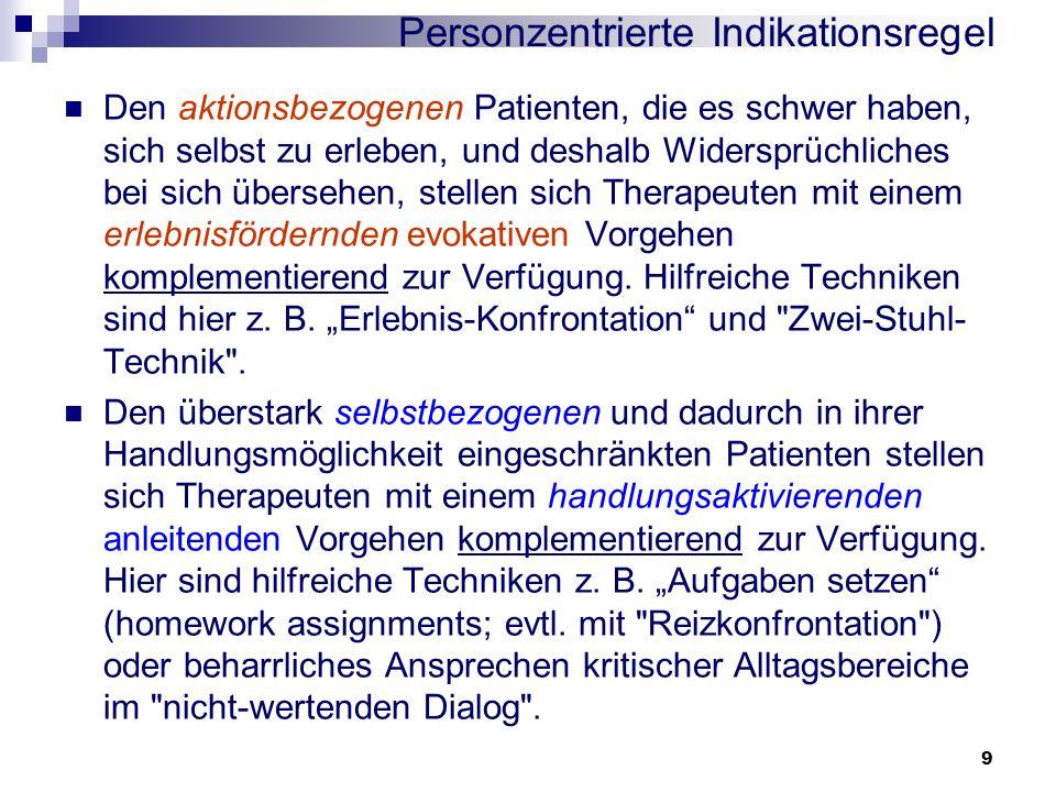 Personzentrierte Indikationsregel
