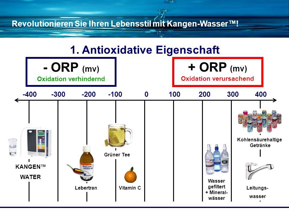 - ORP (mv) Oxidation verhindernd + ORP (mv) Oxidation verursachend