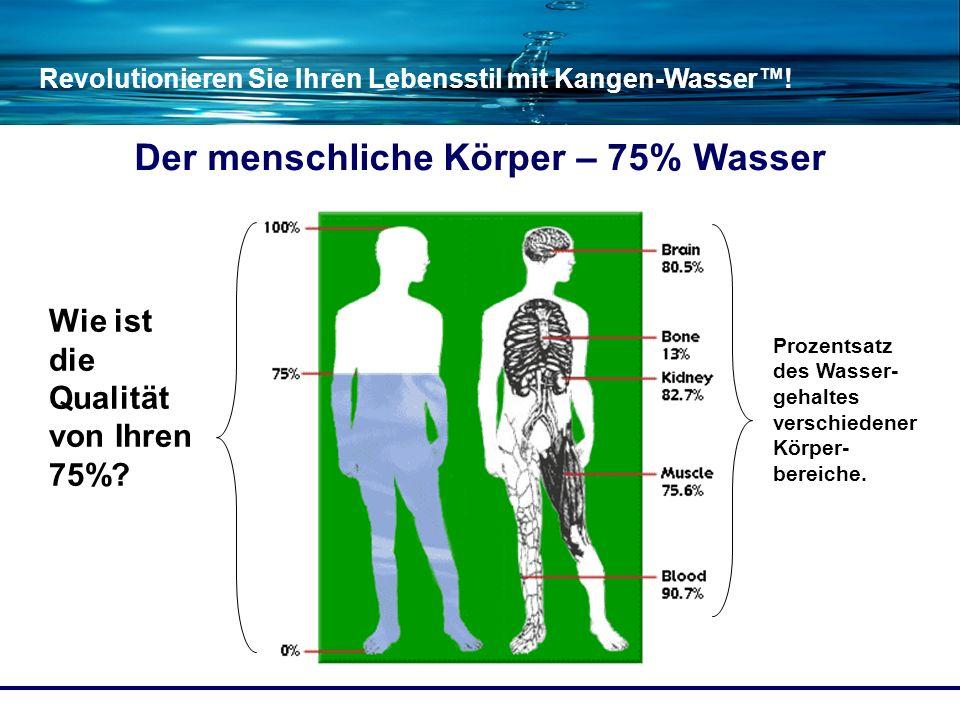 Der menschliche Körper – 75% Wasser