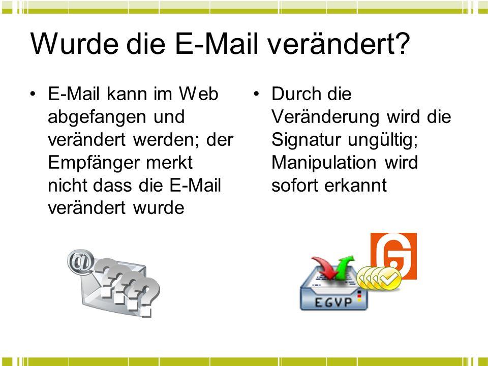 Wurde die E-Mail verändert