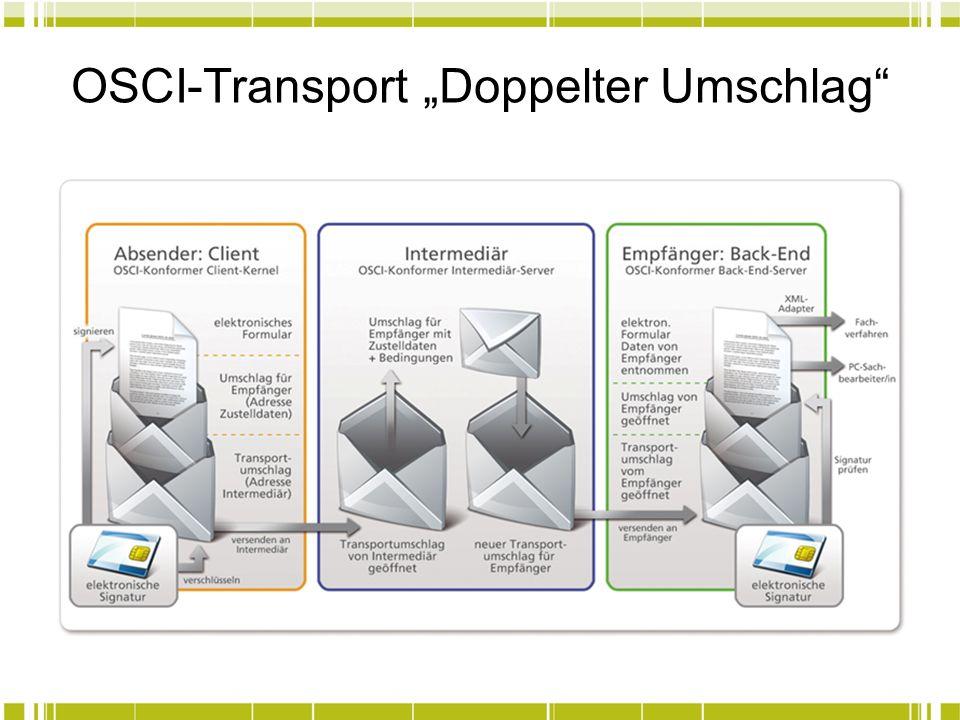 """OSCI-Transport """"Doppelter Umschlag"""