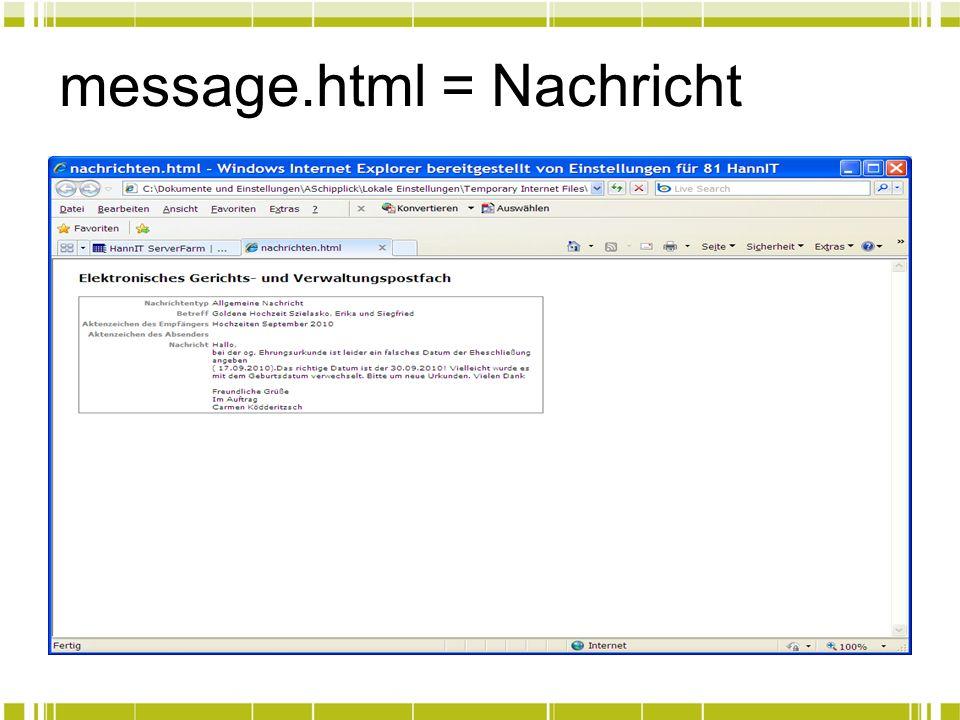 message.html = Nachricht