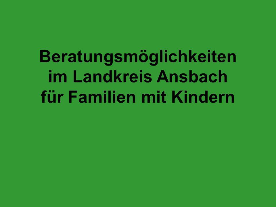 Beratungsmöglichkeiten im Landkreis Ansbach für Familien mit Kindern