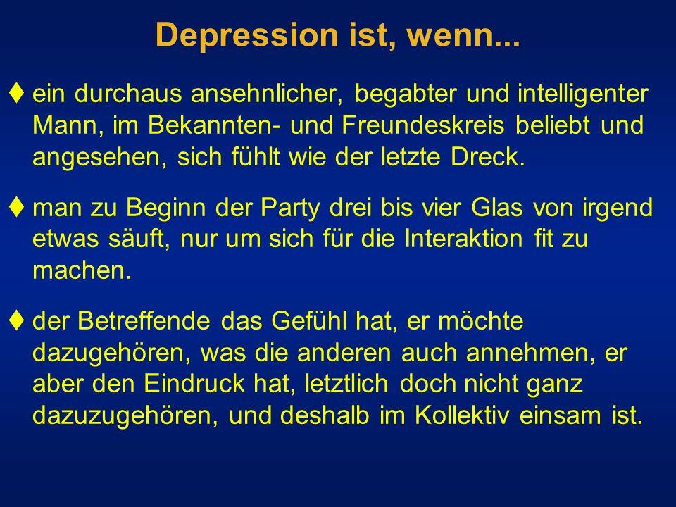 Depression ist, wenn...