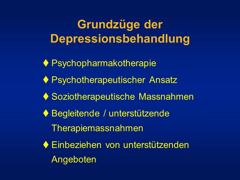Grundzüge der Depressionsbehandlung
