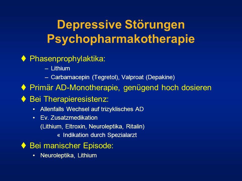 Depressive Störungen Psychopharmakotherapie