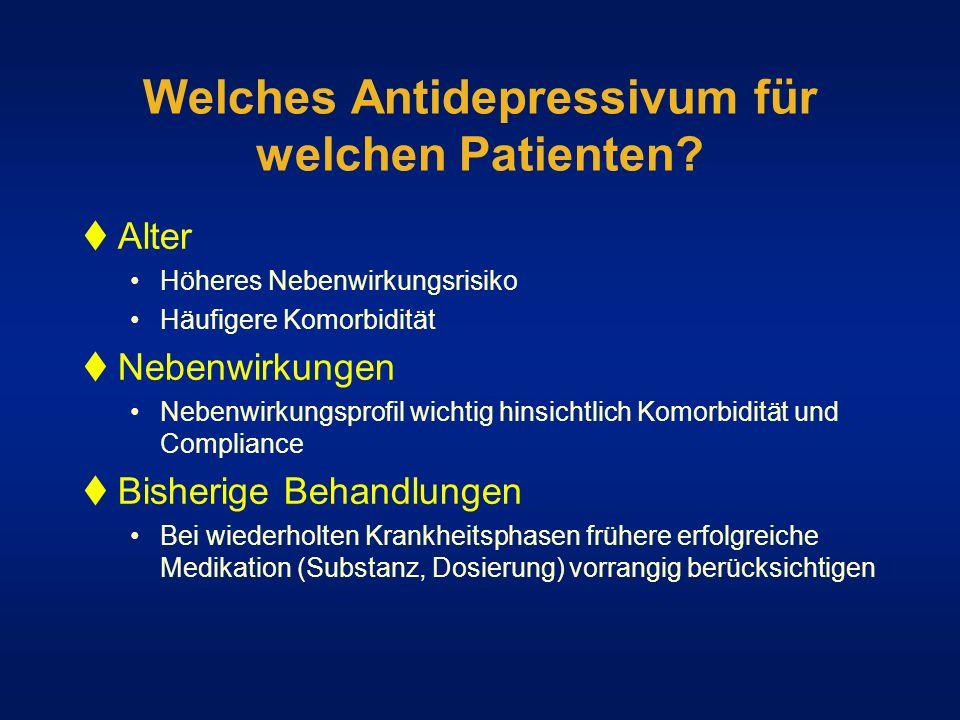 Welches Antidepressivum für welchen Patienten
