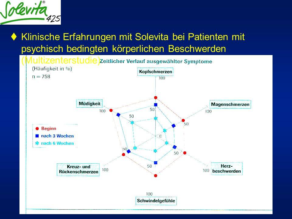 Klinische Erfahrungen mit Solevita bei Patienten mit psychisch bedingten körperlichen Beschwerden (Multizenterstudie)