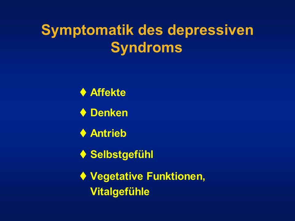 Symptomatik des depressiven Syndroms