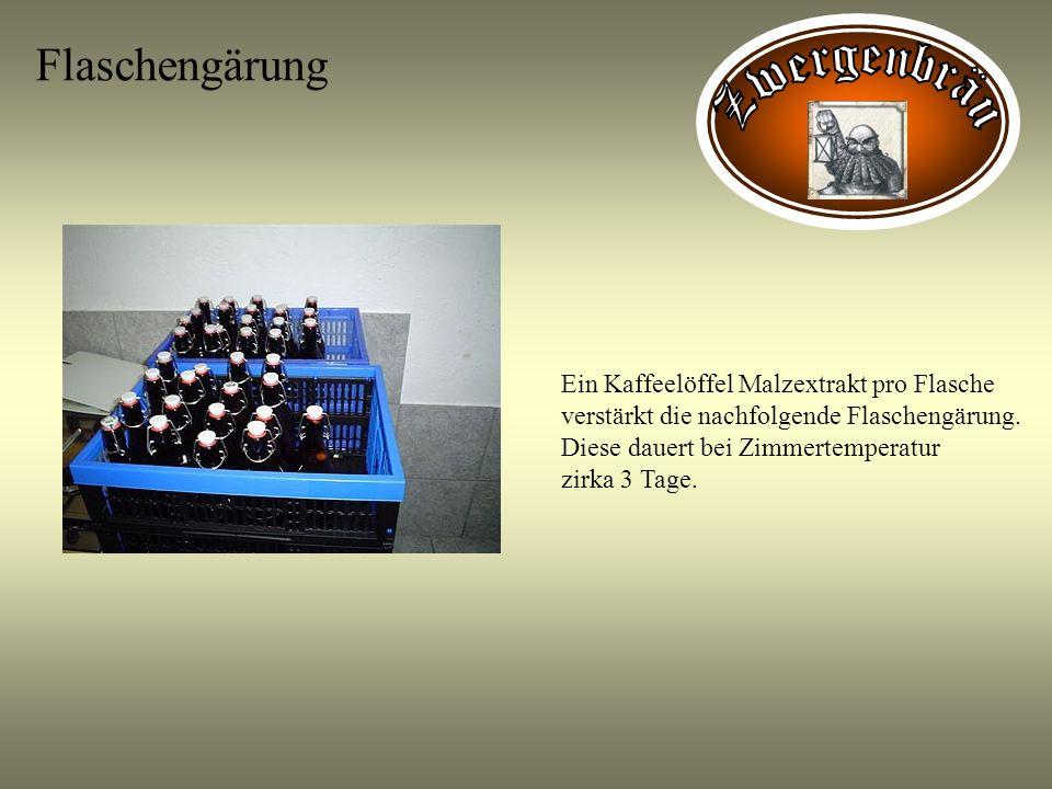 Flaschengärung Zwergenbräu