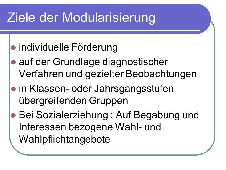 Ziele der Modularisierung