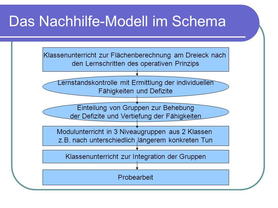 Das Nachhilfe-Modell im Schema
