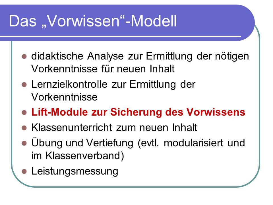 """Das """"Vorwissen -Modell"""