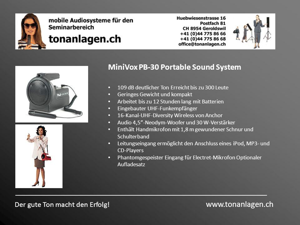 MiniVox PB-30 Portable Sound System