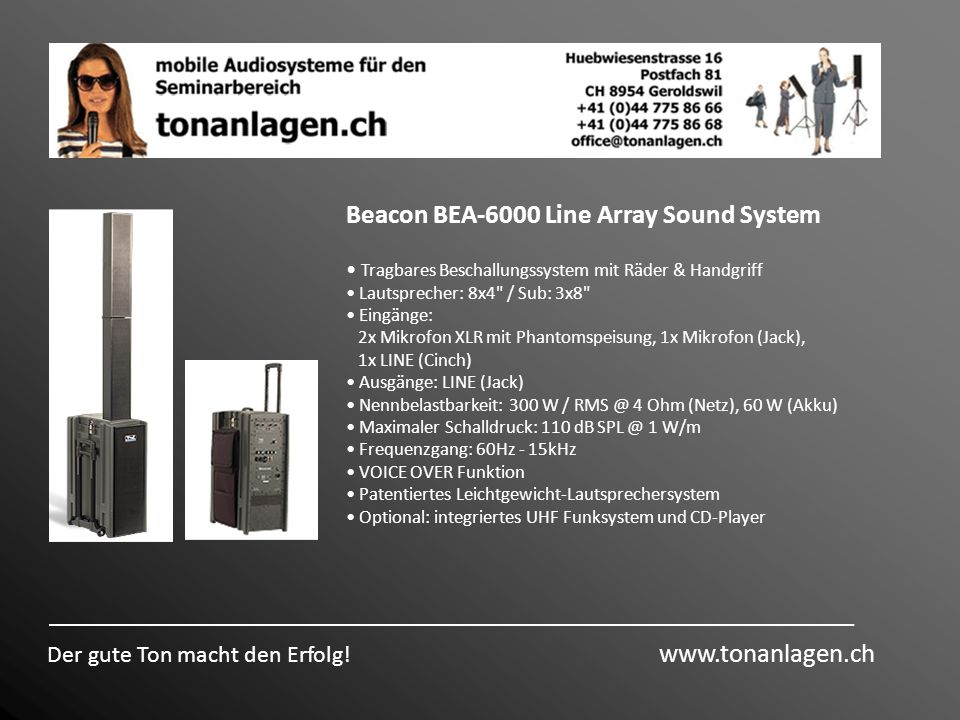 Beacon BEA-6000 Line Array Sound System