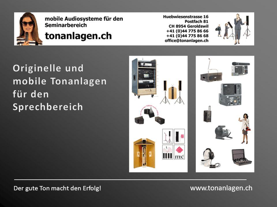 Originelle und mobile Tonanlagen für den Sprechbereich