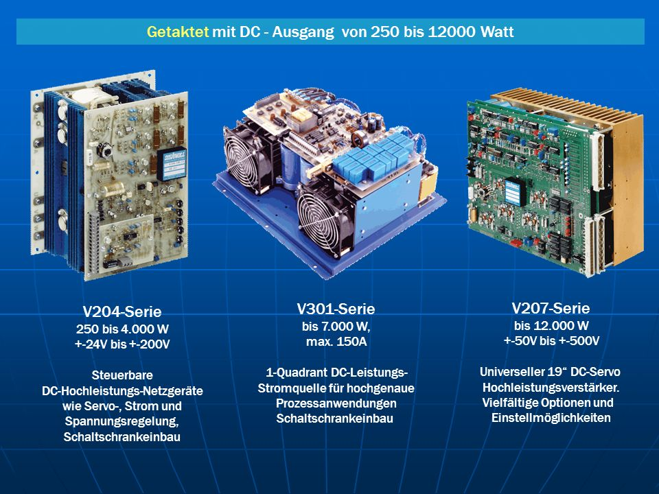Getaktet mit DC - Ausgang von 250 bis 12000 Watt