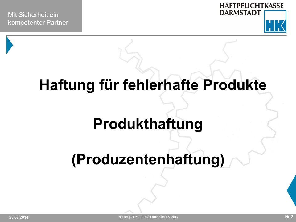 Produkthaftung (Produzentenhaftung)