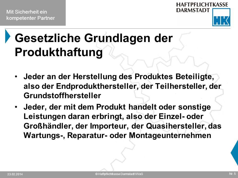 Gesetzliche Grundlagen der Produkthaftung