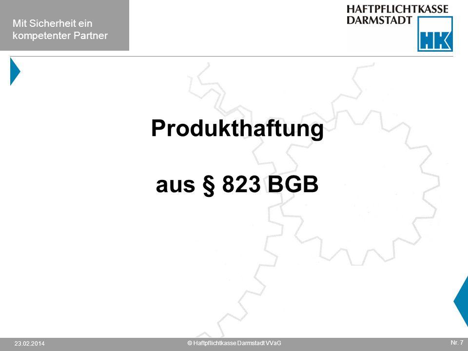 Produkthaftung aus § 823 BGB