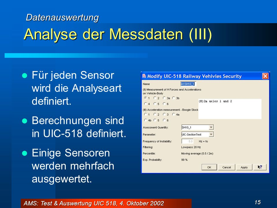 Analyse der Messdaten (III)