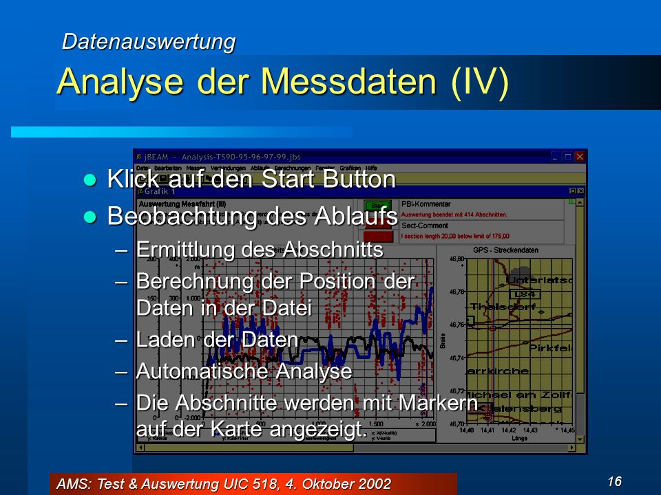 Analyse der Messdaten (IV)