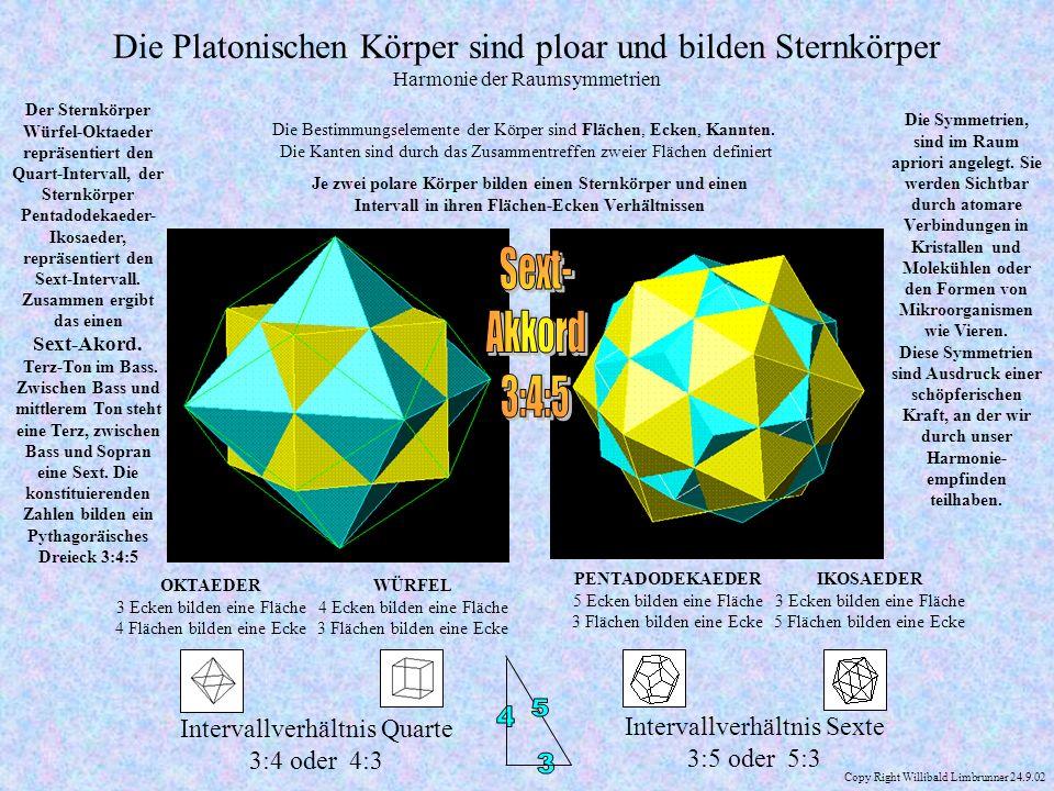 Die Platonischen Körper sind ploar und bilden Sternkörper Harmonie der Raumsymmetrien