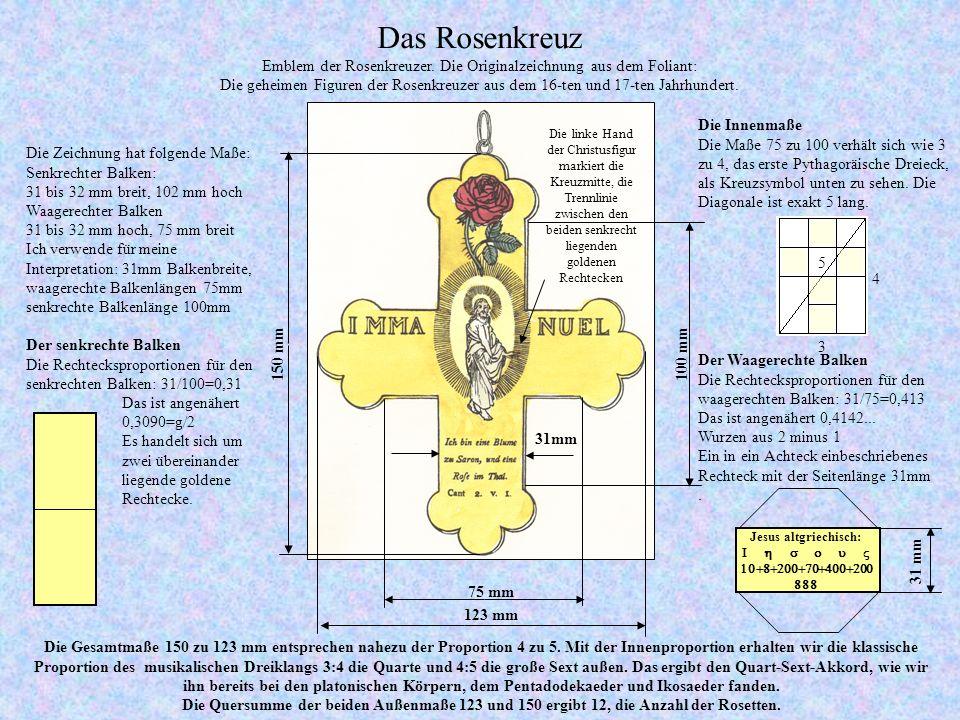 Emblem der Rosenkreuzer. Die Originalzeichnung aus dem Foliant: