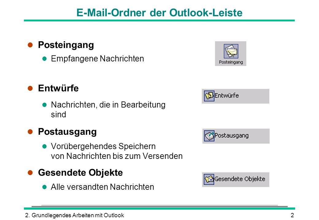 E-Mail-Ordner der Outlook-Leiste