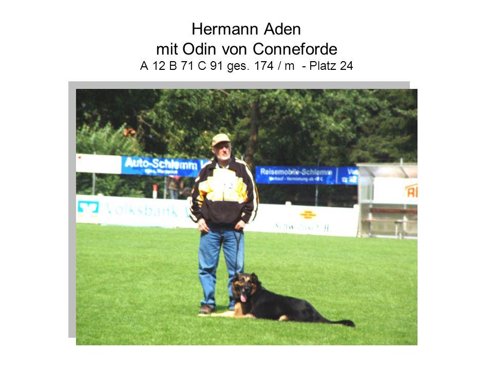 Hermann Aden mit Odin von Conneforde A 12 B 71 C 91 ges