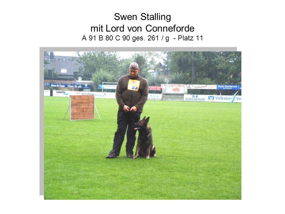 Swen Stalling mit Lord von Conneforde A 91 B 80 C 90 ges