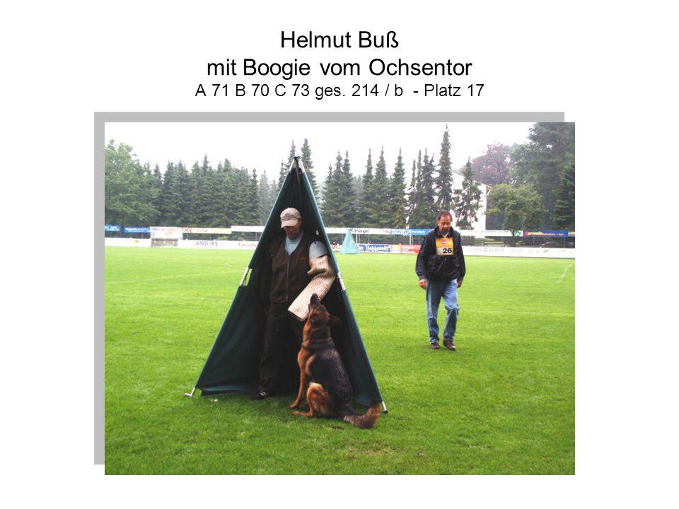 Helmut Buß mit Boogie vom Ochsentor A 71 B 70 C 73 ges