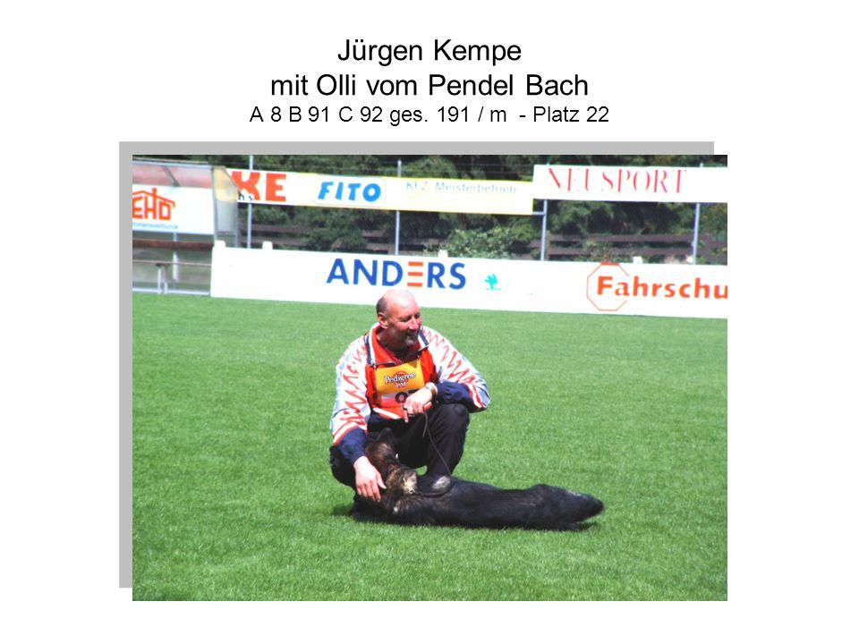 Jürgen Kempe mit Olli vom Pendel Bach A 8 B 91 C 92 ges