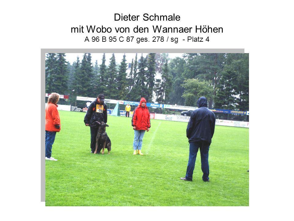 Dieter Schmale mit Wobo von den Wannaer Höhen A 96 B 95 C 87 ges