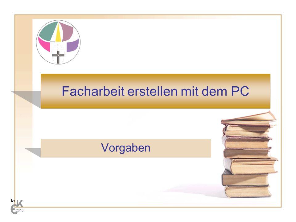 Facharbeit erstellen mit dem PC