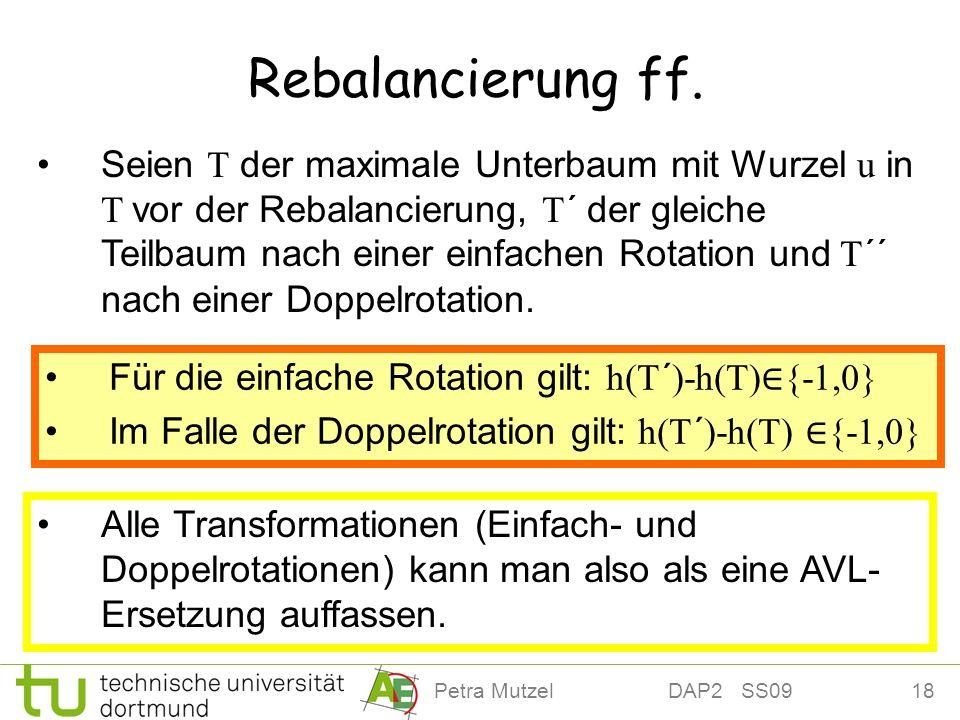 Rebalancierung ff.