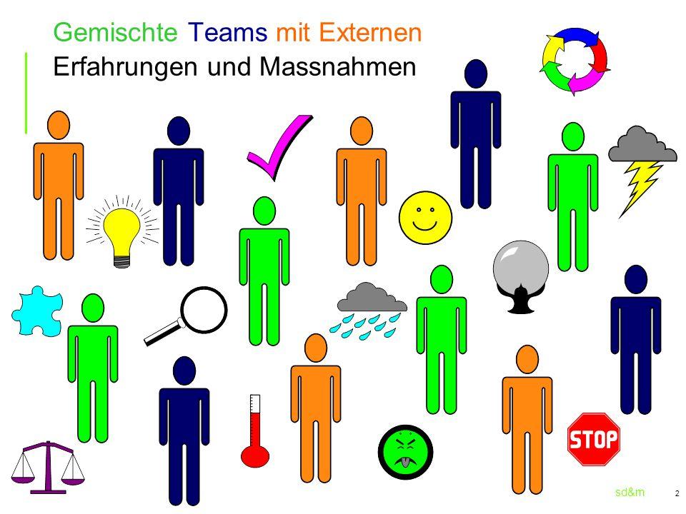Gemischte Teams mit Externen Erfahrungen und Massnahmen