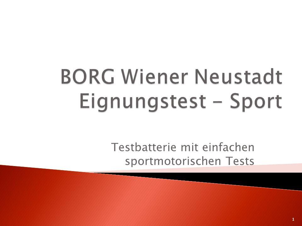 BORG Wiener Neustadt Eignungstest - Sport