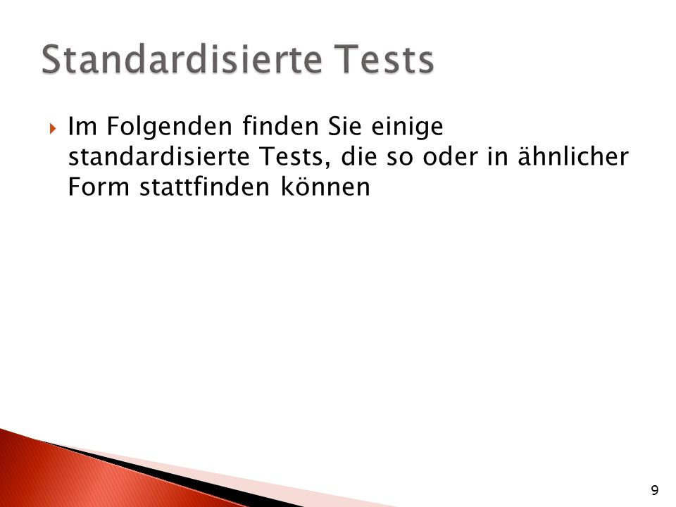 Standardisierte Tests