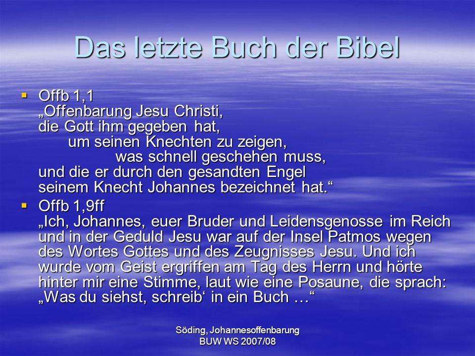 Das letzte Buch der Bibel