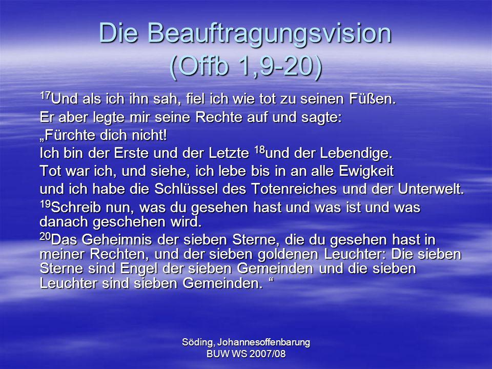 Die Beauftragungsvision (Offb 1,9-20)