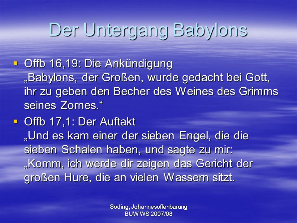 Der Untergang Babylons