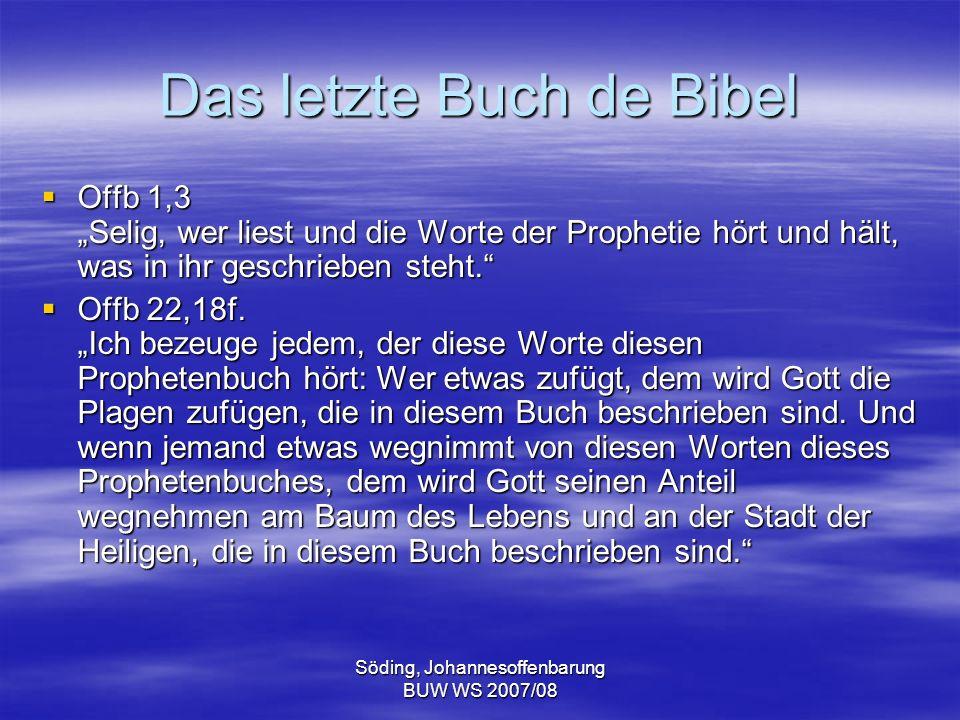 Das letzte Buch de Bibel