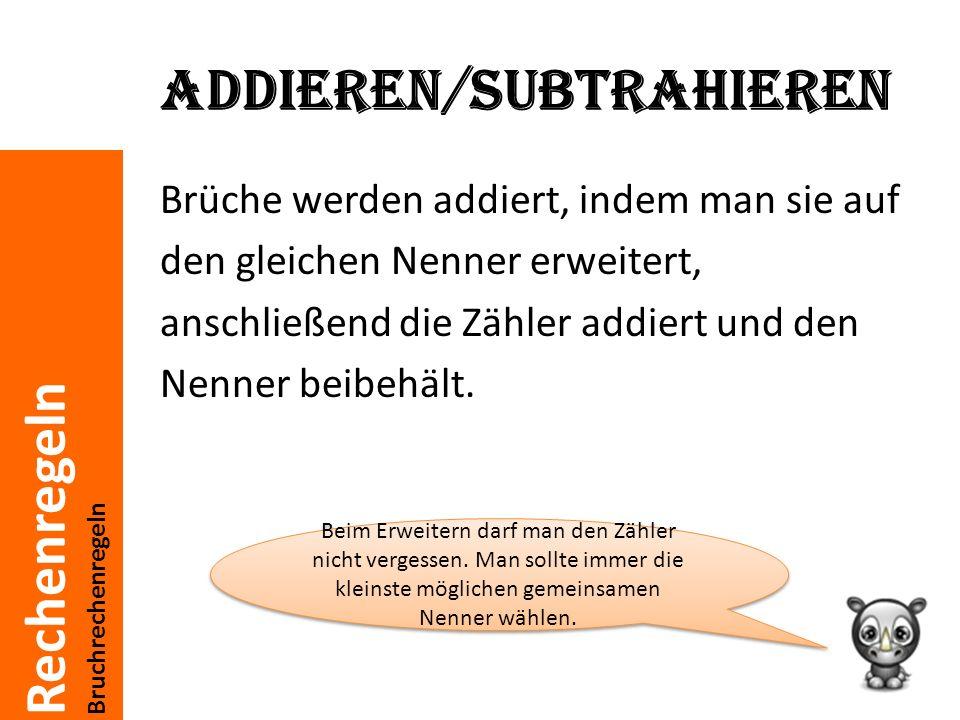 Addieren/subtrahieren