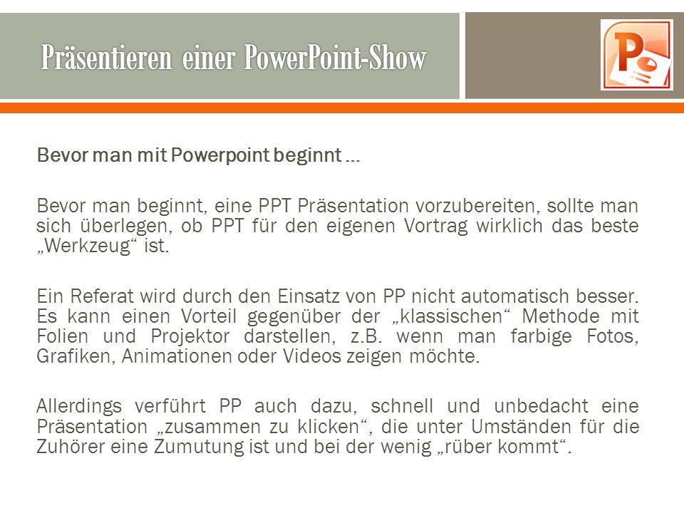 Präsentieren einer PowerPoint-Show
